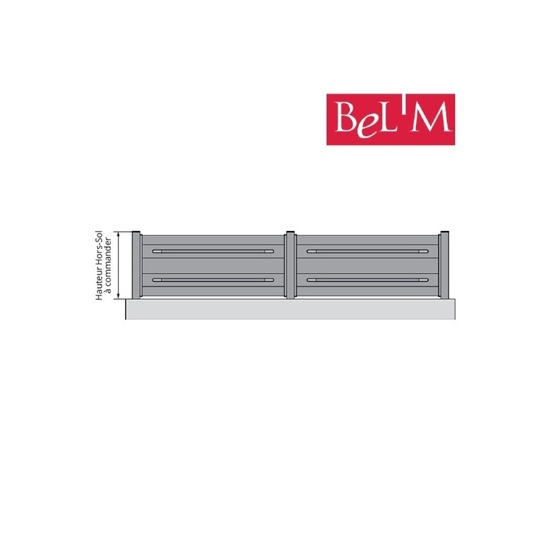Clôture aluminium Zen
