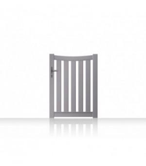 Portillon aluminium incurvé et barreaudé sur mesure