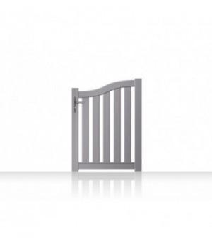 Portillon alu forme vague avec barreaux sur mesure