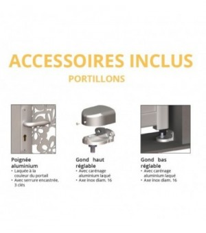Portillon aluminium Bordeaux