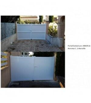 Portail PVC battant Verrie