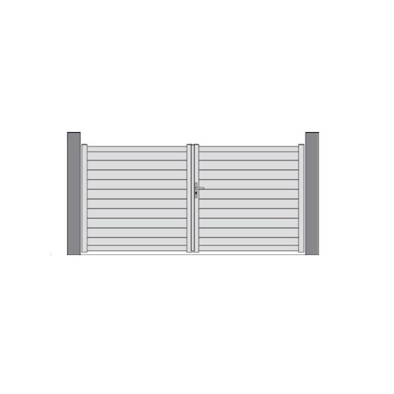 portail plein à lambris horizontal TORFOU