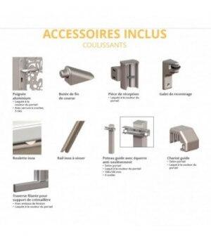 Portail aluminium coulissant Privas