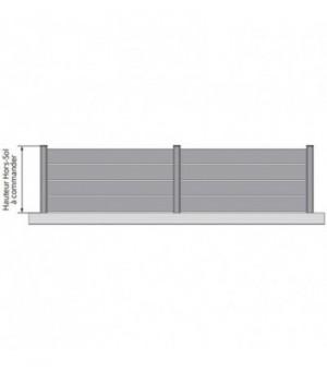 Clôture aluminium ajourée à lames larges sur mesure