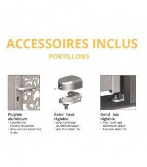 Portillon aluminium Tours