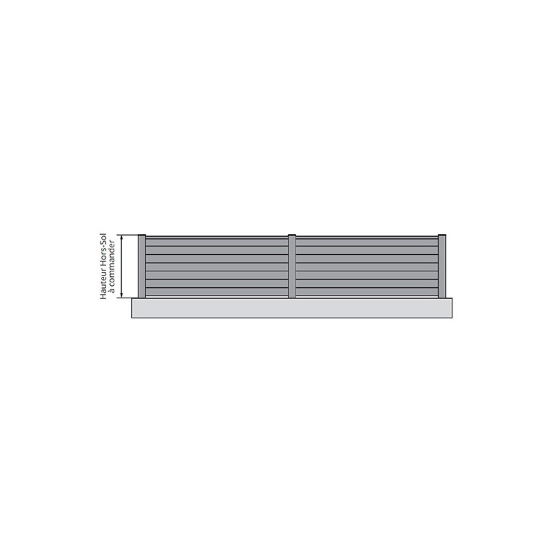 Clôture aluminium Mimizan