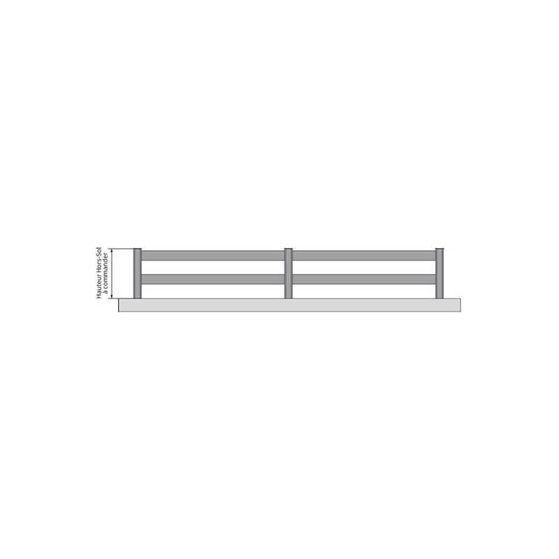 Clôturesur mesure en aluminium ajourée avec lames horizontales