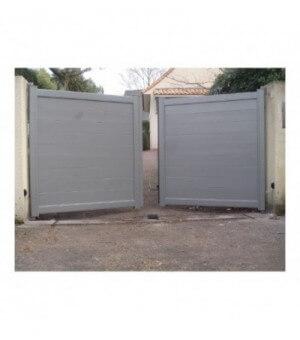Portail aluminium battant Lyon