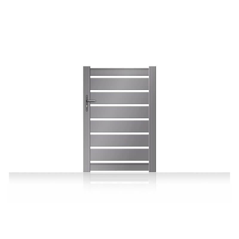 Portillon en aluminium ajouré à lames horizontales
