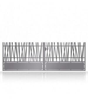 Portail aluminium à barreaux asymétriques design sur mesure