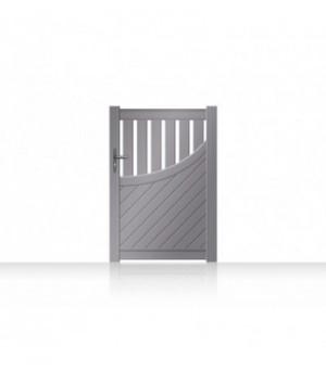 Portail 1 vantail alu ajouré moderne