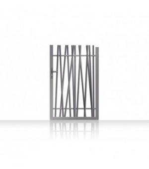 Portillon en aluminium ajouré avec tubesasymétriques