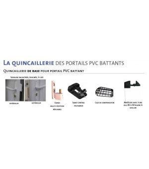 Portail battant PVC ROSAY avec lames claire-voie