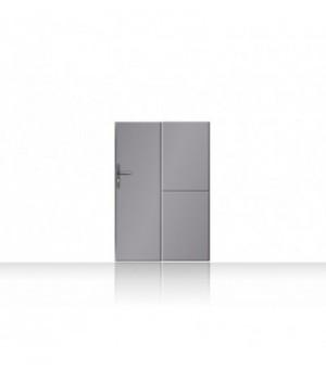 Portillontrès moderneplein en aluminium soudé et tôles larges