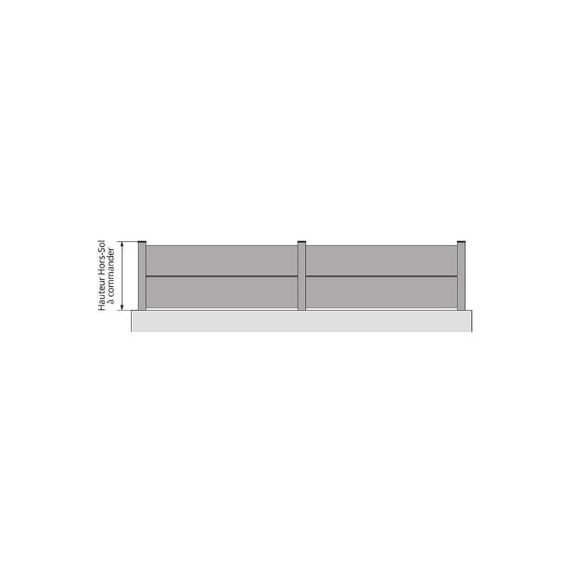 Clôture aluminium occultante avec tôles extra larges sur mesure