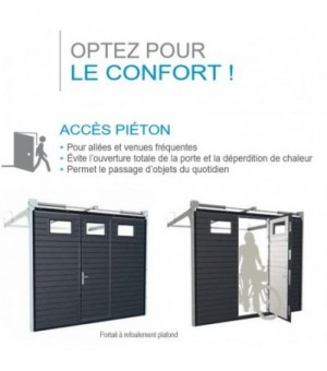Porte sectionnelle avec portillon