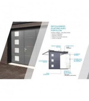 Porte sectionnelle avec portillon à cassettes