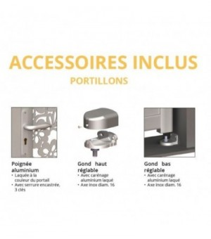 Portillon aluminium Crozon
