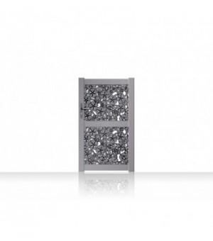Portillon en aluminium àmotifs floraux découpés au lasersur mesure