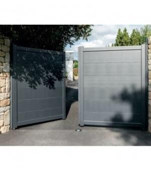 Sabot central aluminium pour portail