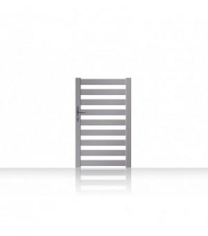 Portillon alu entièrement ajouré à lames horizontales