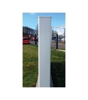 Poteau en pvc de soutien pour portail ou portillon pvc blanc
