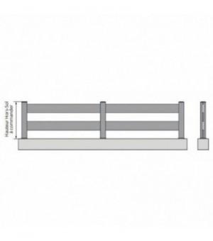 Clôture PVC à lisses larges horizontales
