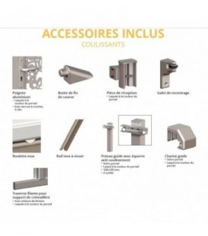 Portail aluminium coulissant Soly