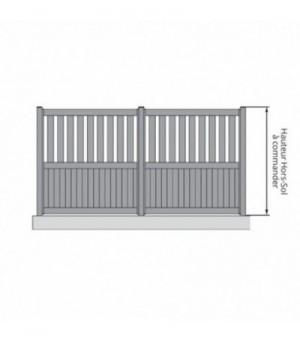 Clôture aluminium sur mesure semi-ajourée à lames verticales