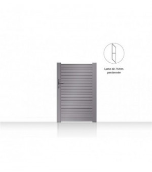 Portillon aluminium Lomm
