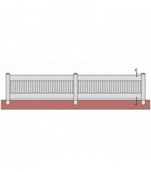 Clôture PVC pleine sur mesure à lames verticales