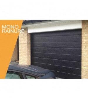 Porte mono rainurée blanche