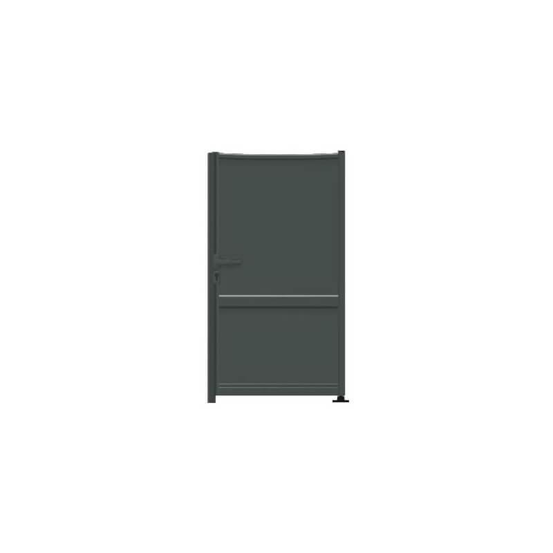 Portillon en aluminium sur mesure de forme incurvée / bombée inversée