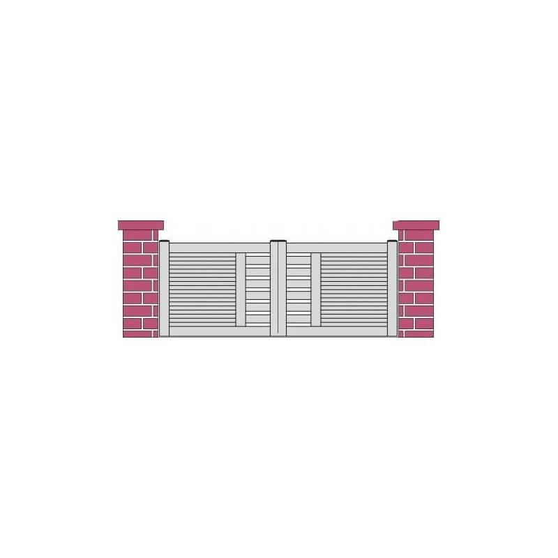portail design coulissant PVC ajouré CHOLET