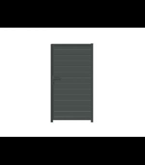 """Portillon en aluminium occultant sur mesure à lames horizontales de la gamme """"Petits prix"""""""
