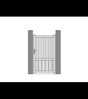 Portillon PVC sur mesure avec cadre intégré semi-plein PANTIN