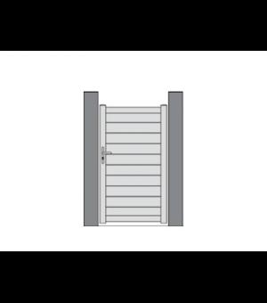 Portillon PVC TORFOU à lames horizontales sur mesure plein