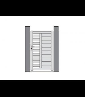 Portillon PVC design ajouré MERIEL