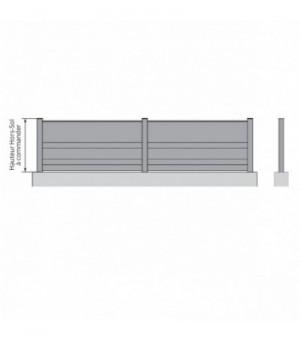 Clôture aluminium Brou