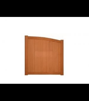 Portillon en bois exotique demi bombé TOURCOING