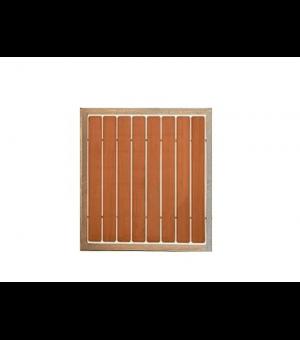 Portillon en bois design avec cadre acier et ajouré TARBES