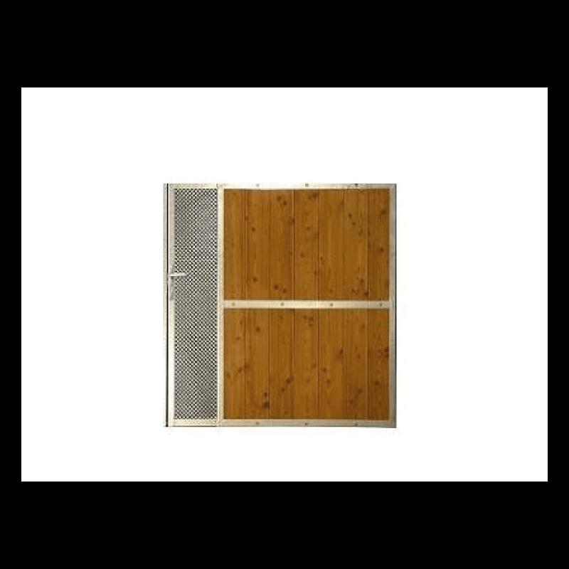 Portillon bois design avectôle acier perforée POITIERS sur mesure