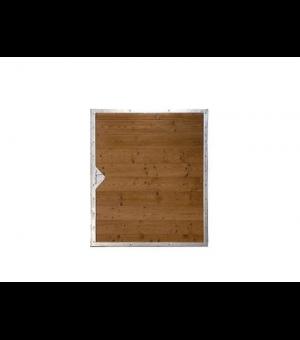 Portillon bois design ORLEANS avec acier sur mesure