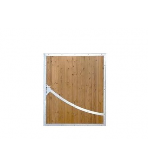 Portillon design bois NIORT avec acier sur mesure
