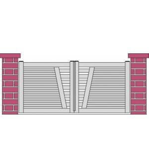 Portail coulissant PVC SAUMUR design ajouré