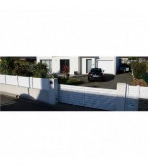 Portail PVC coulissant Clamart