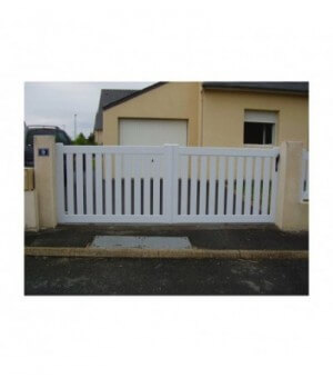 Portail PVC coulissant Colombes