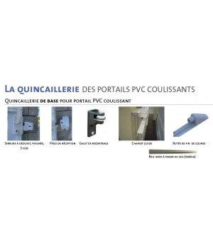 Portail coulissant PVC ajouré à lames horizontales BALMA