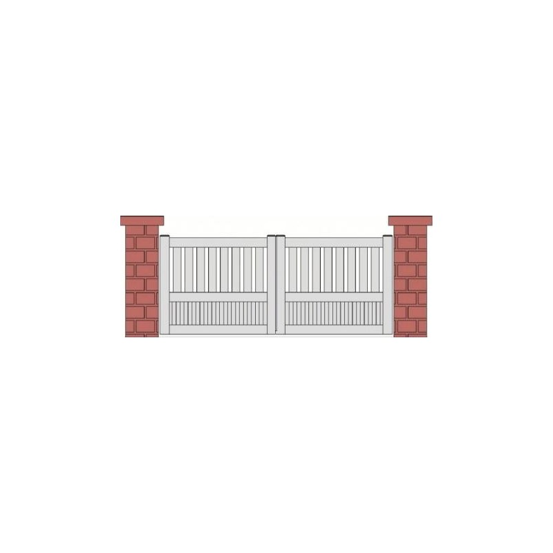 portail coulissant aspect 2 vantaux semi-plein PVC CHAVILLE