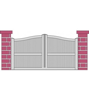 Portail PVC coulissant Bouville